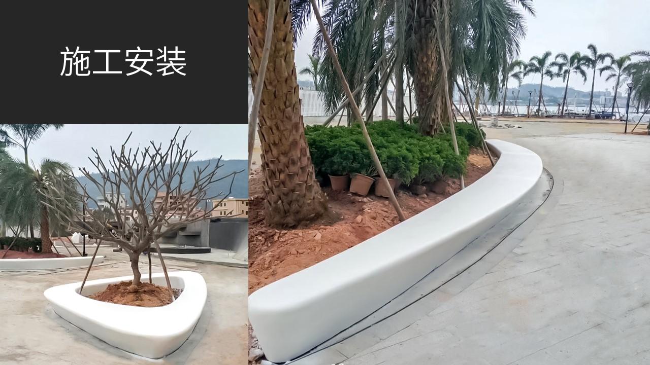 阿尔博装饰水泥仿石树池坐凳